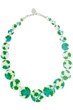 Tatty Devine for Eley Kishimoto 'Mean Roses' Blue Link Necklace - Necklaces - By product - Shop