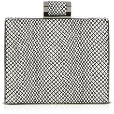 691009d261e5 Halston Heritage Clutch - Embossed Box Minaudiere ( 165) ❤ liked on  Polyvore Designer Clutch