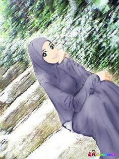 Steps Muslimah Anime Hijab Cartoon Moda Hijabs Animated Cartoons