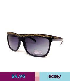 Sunglasses   Fashion Eyewear Black Square Sunglasses Gold Zipper Classic  Casual Rapper Retro 80S Hip Hop Vtg  ebay  Fashion 5a4a368453f6