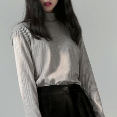 "uxqi:  ""striped turtleneck  """