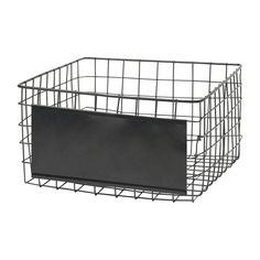Are you interested in our square wire basket? With our black wire basket you need look no further. Wire Baskets, Storage Baskets, Chandeliers, Black Wire Basket, Utility Shelves, Black Square, Style Vintage, Black House, Box