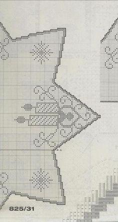View album on Yandex. Filet Crochet, Christmas Crafts, Xmas, Crochet Christmas, Crochet Curtains, Crochet Patterns, Diagram, Diy Crafts, Album