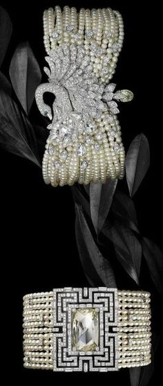 Cartier Diamond and Pearl jewelry Cartier Jewelry, Pearl Jewelry, Antique Jewelry, Vintage Jewelry, Fine Jewelry, Jewelry Accessories, Jewelry Design, Bling, Schmuck Design