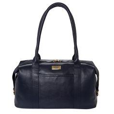 Dark Blue Leather Shoulder Bag for £59.99 #fabfind
