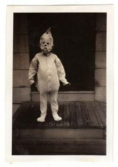 Strange vintage photo. This is a picture of a child's costume for Halloween.
