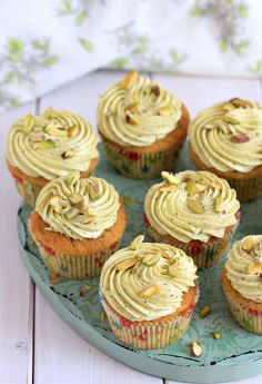 my bare cupboard: Pistachio cupcake with pistachio-lime cream cheese frosting