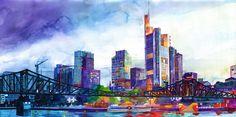 Colossal x Maja Wronska: Modern City Watercolor Series   Colossal