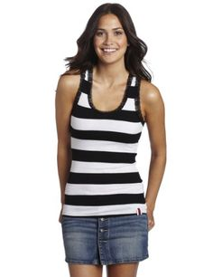 Southpole Juniors Rugby Stripe Ribbed Tank Top « Clothing Impulse