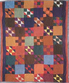 Jacob's Ladder, 1937. Made by Lydia Nafziger Jantzi. Amish. Perth Co, Ontario, Canada.