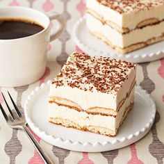 The perfect end to any party is a tray of these Frozen Tiramisu Squares made with vanilla wafer cookies, white chocolate and Philly cream cheese! #dessert #recipe
