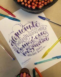Lettering com caneta Bic. #CompeticaoArtisticaAlineAlbino. Abril de 2018.