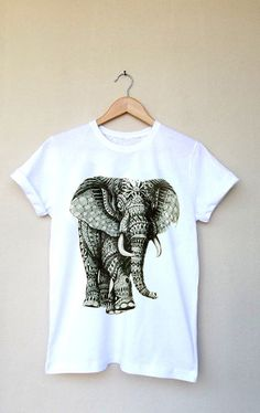 Art Elephant Printed T Shirt.