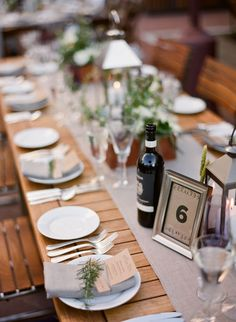 rustic tablescape.