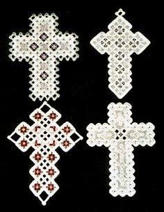 Fancy Hardanger Crosses By Rose Marie Schneider
