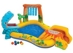 Intex 57444EP Dinosaur Play Center Kiddie Pool, Play Pool, Pool Fun, Play Gym, Outdoor Toys, Outdoor Fun, Outdoor Lounge, Outdoor Play Areas, Outdoor Decor
