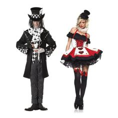 Mad Hatter and Queen of Hearts. Best Halloween Costumes for Couples
