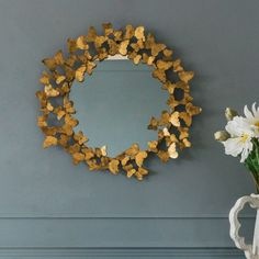 Gold Butterfly Mirror - View All Mirrors - Mirrors - Lighting & Mirrors