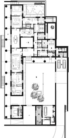 Fayland House by David Chipperfield in Chiltern Hills, United Kingdom, Floor Plan   Remodelista