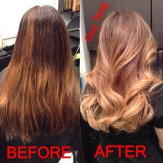 Guy Tang Before and AFTER : Rich chocolate mocha flavor to a creamy caramel ombré