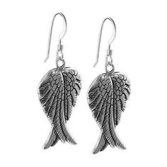 Gem Avenue GSES022 Sterling Silver 16mm x 26mm  Fairy Wings Dangle Earrings at Sears.com