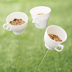 teacup bird drinker or feeder by flock-follies | notonthehighstreet.com