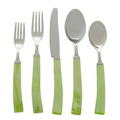 Via Veneto Green Five Piece Place Setting