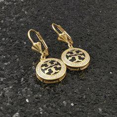 fc3784b23 18K Gold Filled Inspired Italian Diamond 18ct GF Dangle Drop Earrings 35mm  #DropDangle