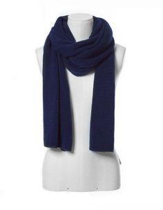 Blue Cashmere Knit Scarves