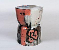 Reinaldo ceramic stool - Property Furniture