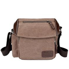 Vintage Small Men Messenger Bags Canvas Casual Crossbody Bags For Men Canvas Messenger Bag, Messenger Bag Men, Canvas Shoulder Bag, Leather Shoulder Bag, Small Handbags, St Kitts And Nevis, Handbag Accessories, Jeans, Leather Men