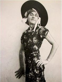 """Self-portrait, """"The tricks of today are the truths of tomorrow."""" Man Ray Yes, he is in drag. The was a very different era. Robert Mapplethorpe, Robert Doisneau, Lee Miller, Irving Penn, Diane Arbus, Yves Klein, Annie Leibovitz, Takashi Murakami, Man Ray Photographie"""
