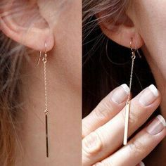 New fashion jewelry alloy Bars drop dangle earring  gift for women girl E2830 - V-Shop
