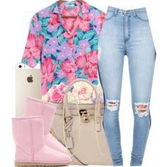 A fashion look from December 2014 featuring party tops, high rise jeans and ankle boots. Browse and shop related looks.