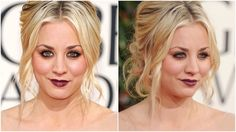 Kaley Cuoco inspired makeup tutorial from Golden Globes 2013