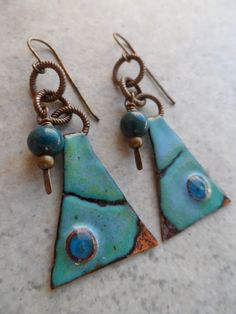 Inspired ... Enameled Copper and Brass Wire-Wrapped by juliethelen