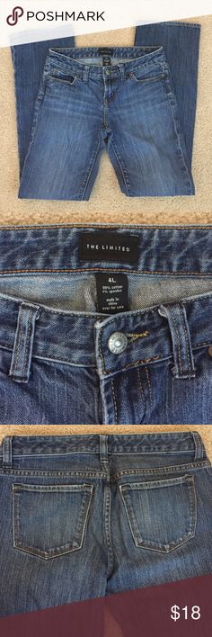 THE LIMITED *NOT* Your Mom Boot Cut Jeans These Limited Jeans are really comfy, well fitting & have a tiny bit of stretch. Gently worn & cared for. Low-mid rise. Longer leg great for heel or wedge! The Limited Jeans Boot Cut