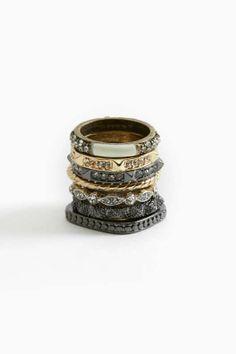 Metal Maven Ring Set