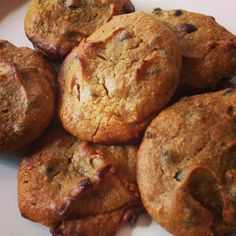 Pumpkin Chai Chocolate Chip Cookies (Paleo / Vegan / GFCF) #PaleoishonaDime