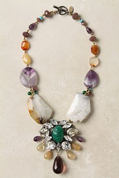 Hewn Cosmos Necklace  Don t like the green stone center piece thing. I  wanna make a mis-mash necklace of chunky stones. 9c5f88ba31