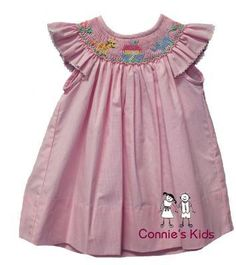 Noah's Ark smocked dress....also has a blue boys romper to match! Too cute! $44.99