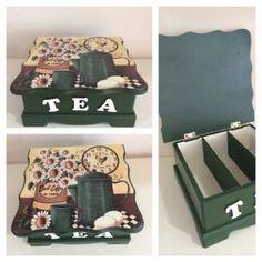 Modern Ahşap Boyama Poşet çay Kutusu özel GittiGidiyor'da 161910821