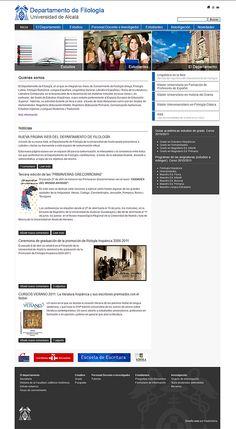 #web Dpto. de filología (Universidad de Álcala) #disnoweb #webdesing #drupal