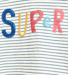 """Super"" striped top"