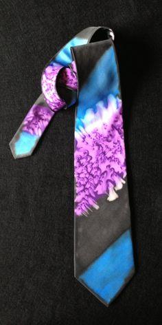 Silk necktie organic design in shades of by FantasticPheasant, $25.00