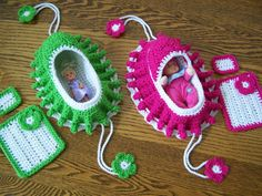 Crochet Cradle Purse With Doll Or Princess