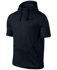 9f4685280c5c Nike Men s Dry Short-Sleeve Training Hoodie - Black 2XL Short Sleeve  Hoodie