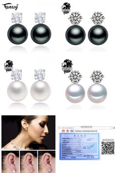[Visit to Buy] FENASY retro earrings,2017 new natural Pearl earring, earrings for women,vintage fashion pearl Jewelry stud earrings,jewelry box #Advertisement