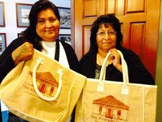 Felicia Vincent and Genevieve Miguel of the Ak-Chin Indian Community, Maricopa, AZ.