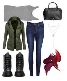 """""""Simple #simpleandcool #weekend"""" by landi-ruthven on Polyvore featuring Dr. Martens, ATM by Anthony Thomas Melillo, LE3NO and Charlotte Russe"""